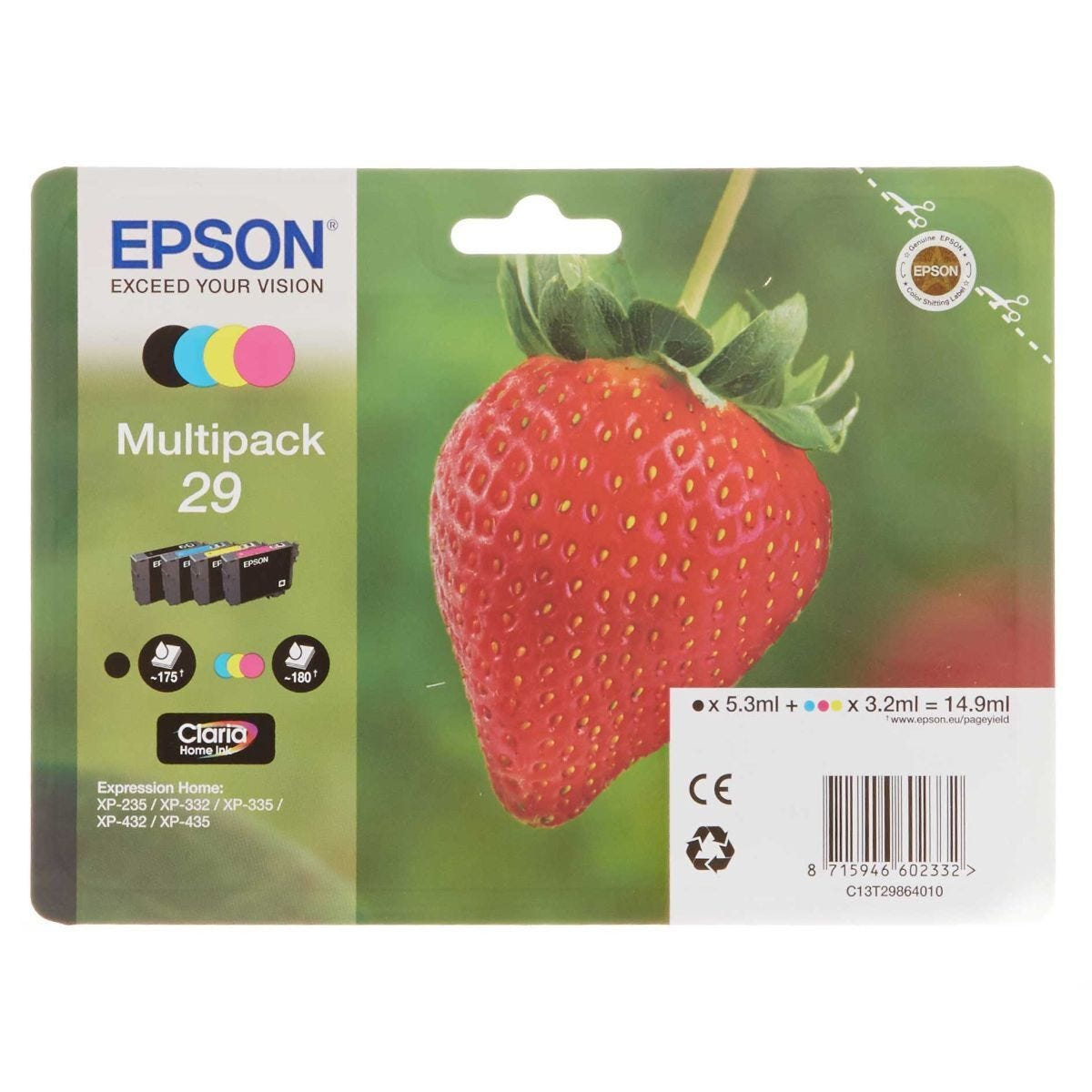 Epson 29 Strawberry Home Ink Cartridge Multipack