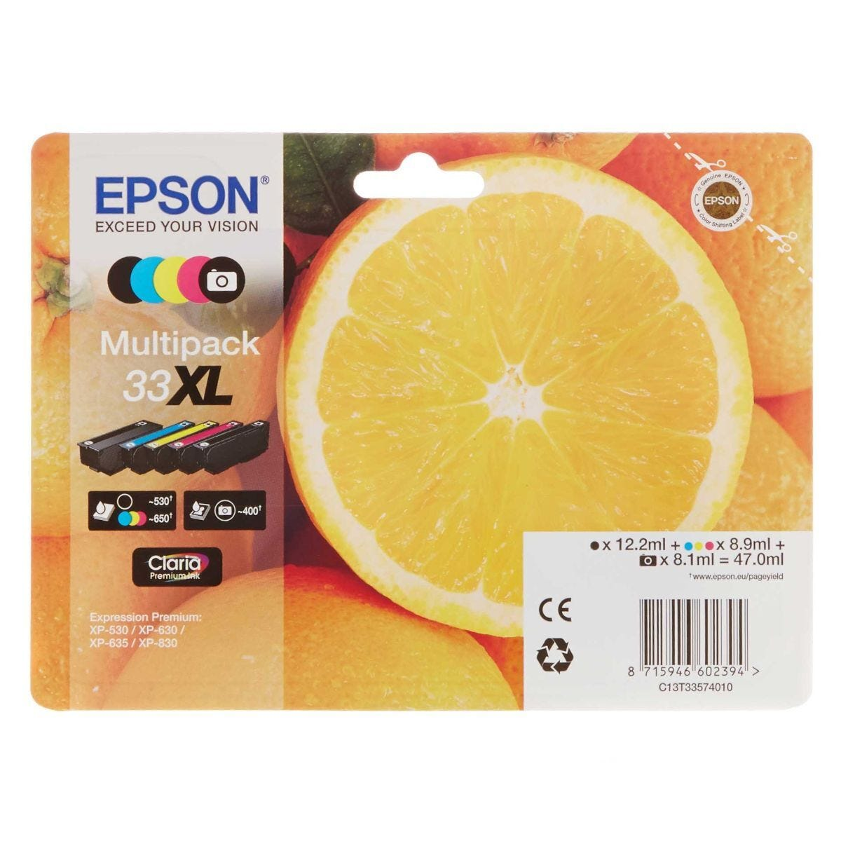 Epson 33XL Orange Multipack Original Ink Cartridges