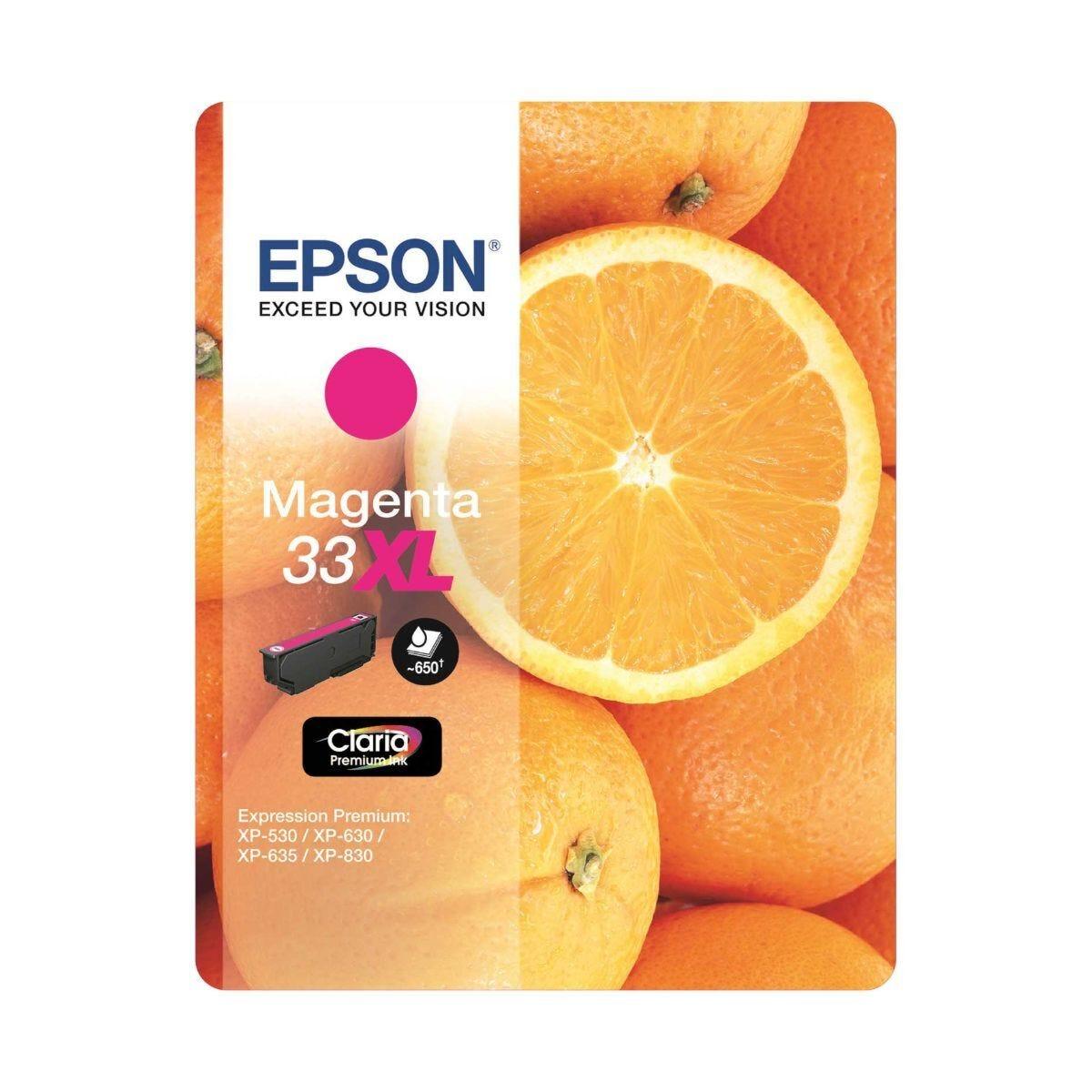 Epson 33 Orange Home Ink Cartridge XL Magenta