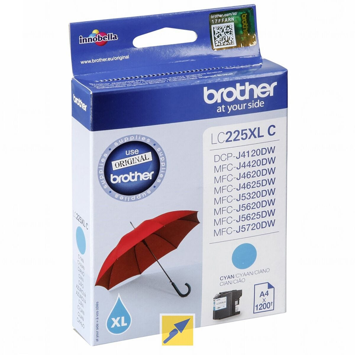Brother LC225XLC Ink Cyan