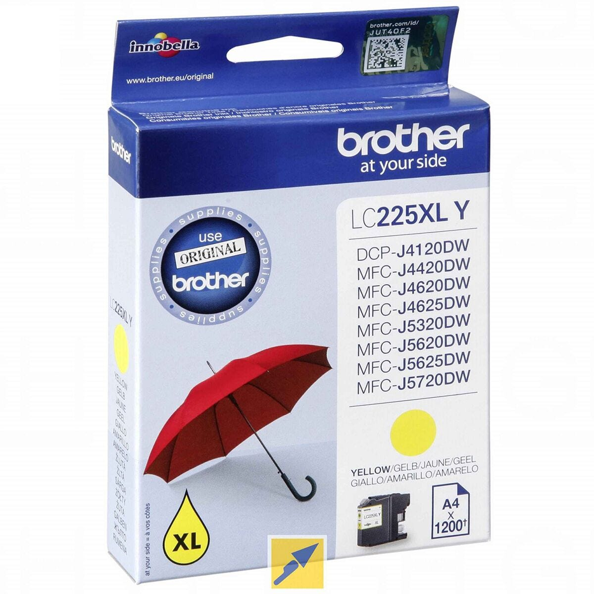 Brother LC225XLY Ink Yellow