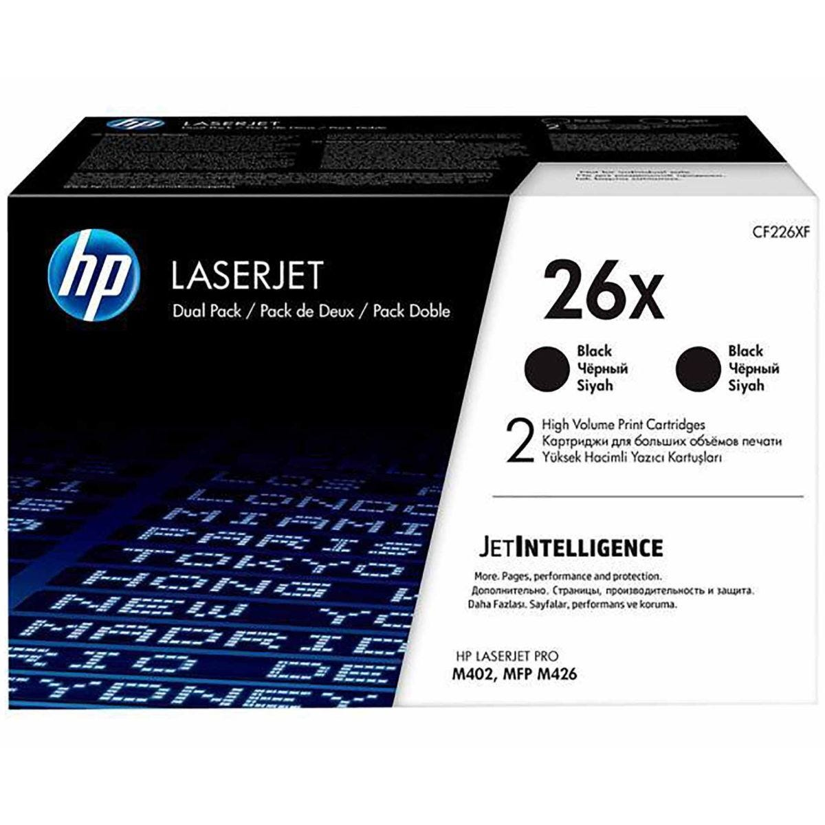 HP 26X Dual Pack Black Original Toner Cartridge