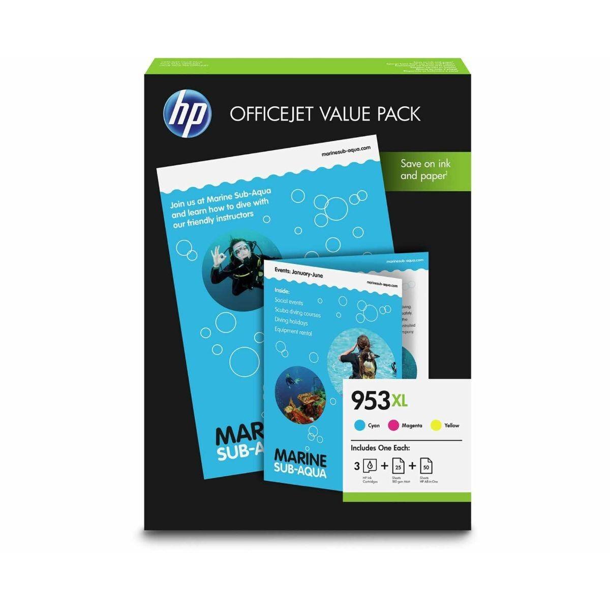 HP 953XL 3 Colour Multipack Original Ink Cartridge
