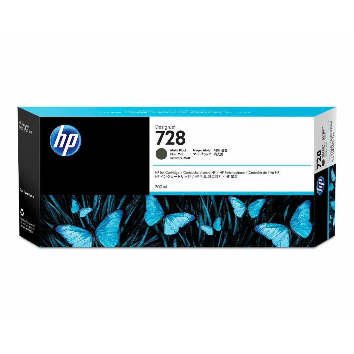 HP 728 Matte Black Original Ink Cartridge
