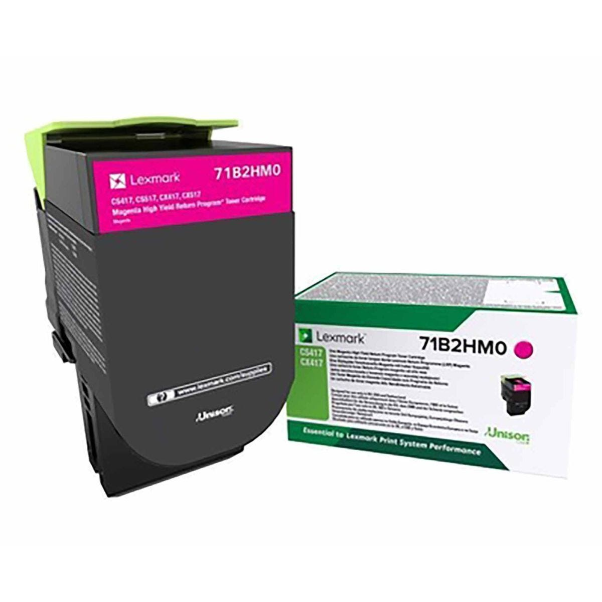 Lexmark 71B2HM0 High Yield Magenta Original Toner Cartridge