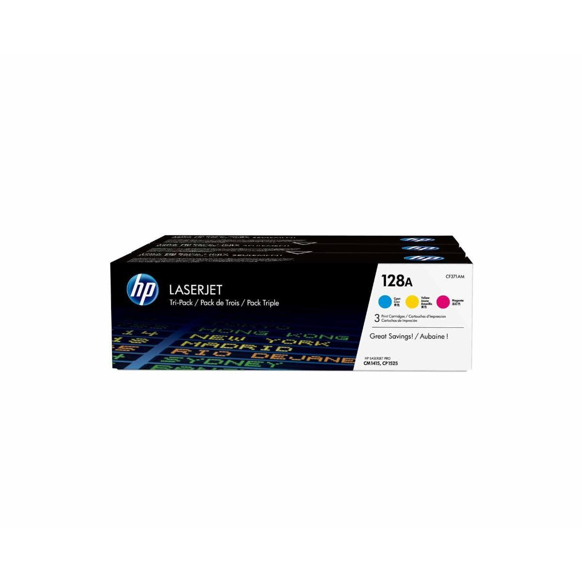 HP 128A 3 Colour Multipack Original Toner Cartridge