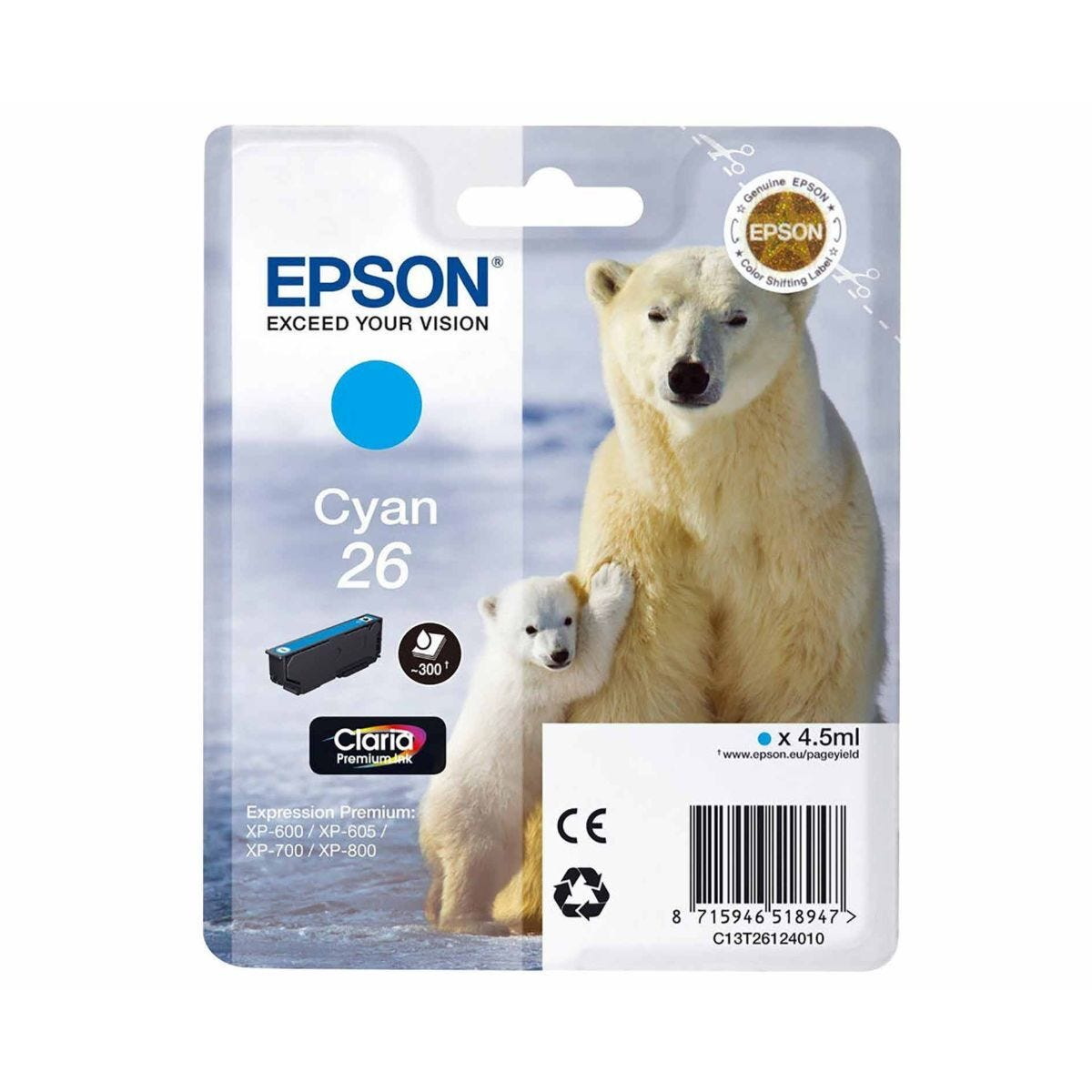 Epson T2612 Ink Cyan