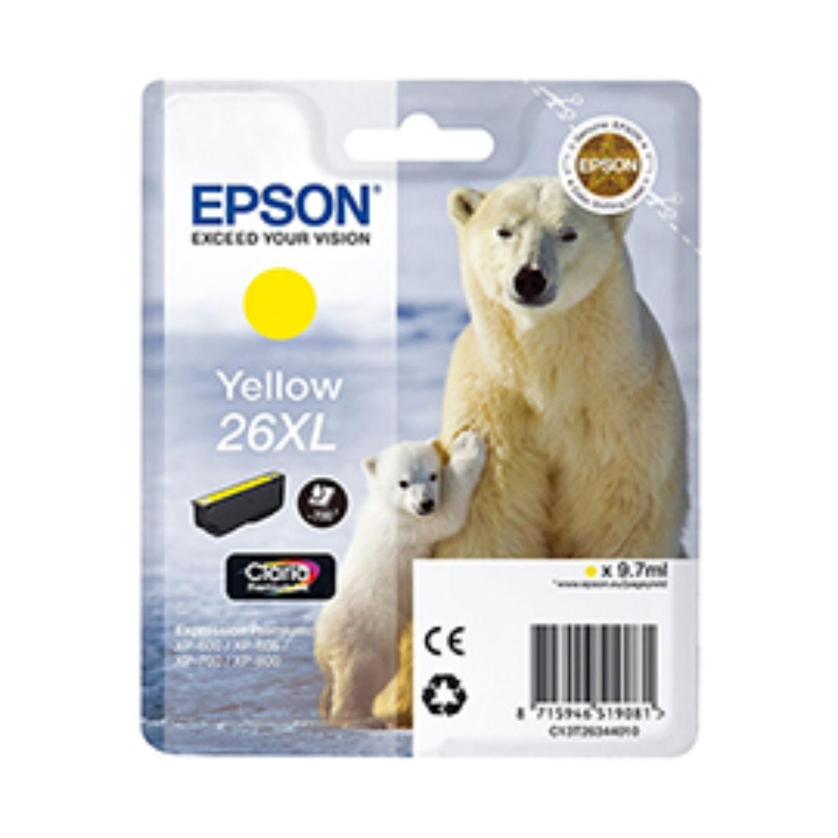 Epson T2634 XL Ink Yellow