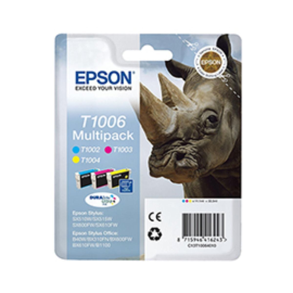 Epson T1006 High Capacity 3 Pack Ink Cyan Magenta and Yellow