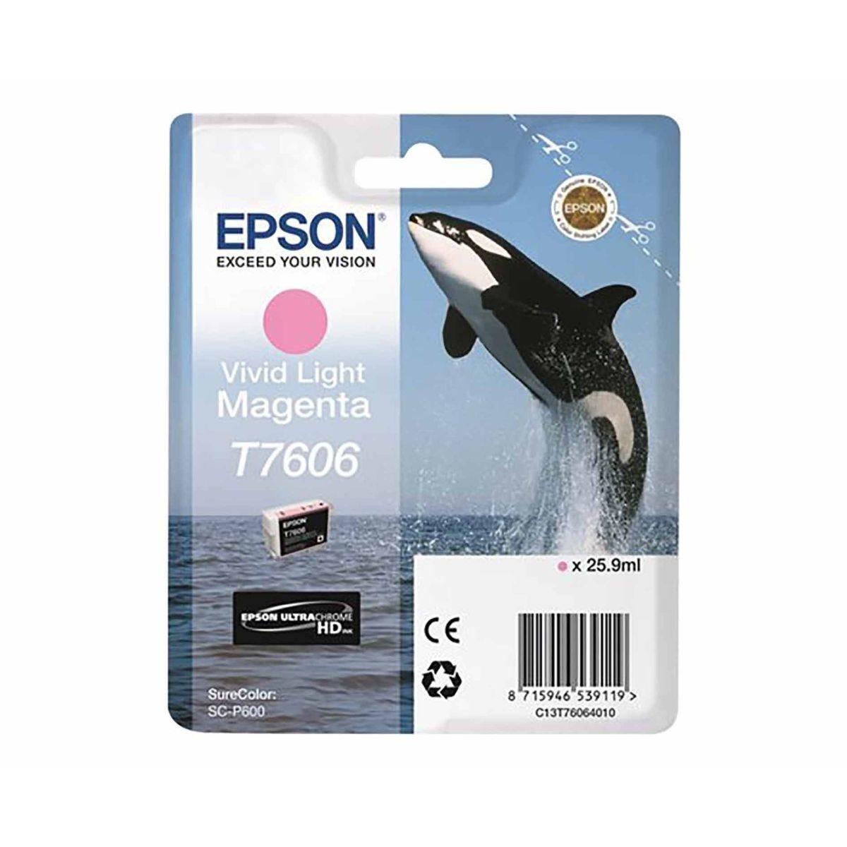 Epson T7606 Vivid Ink Light Magenta
