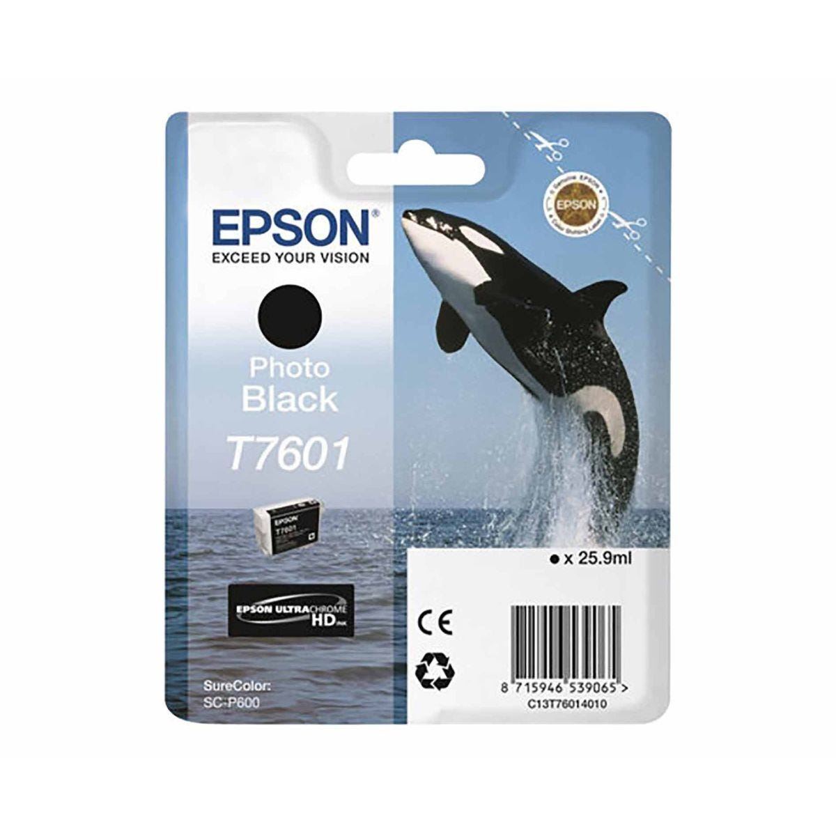 Epson T7601 Photo Ink Cartridge Black