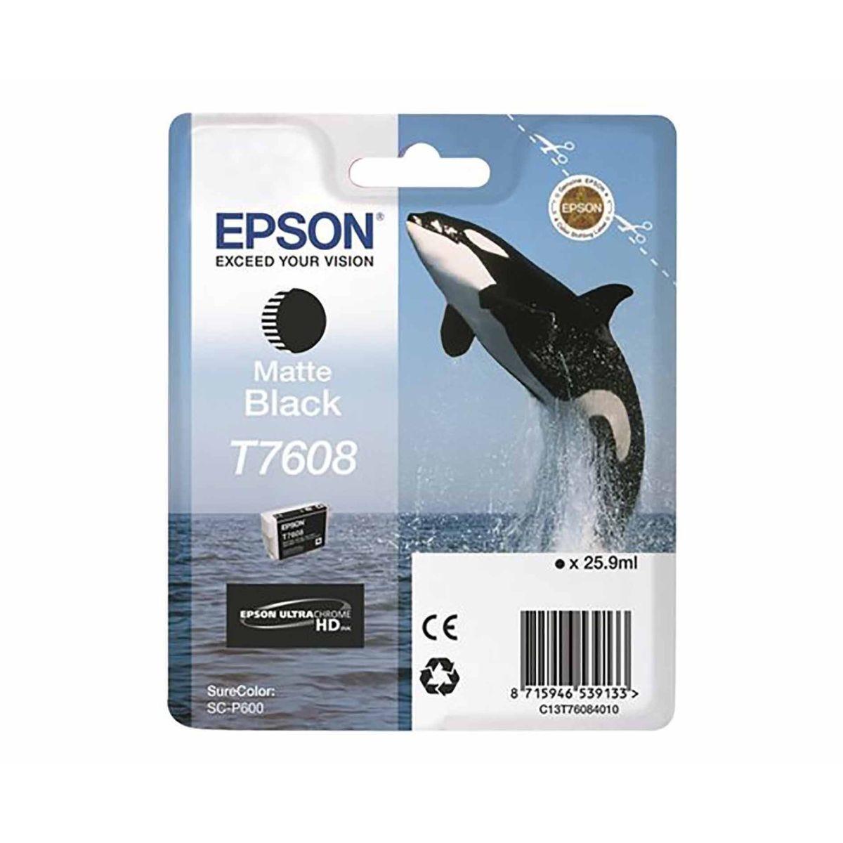 Epson T7608 Ink Cartridge Matte Black