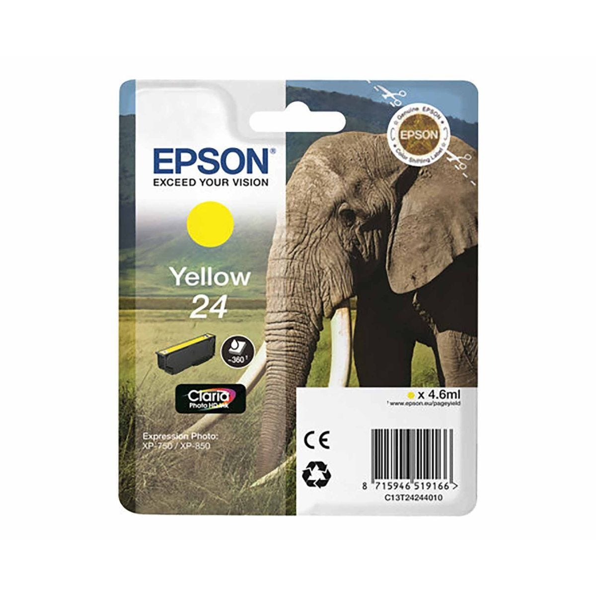 Epson T2424 24 Yellow Ink Cartridge