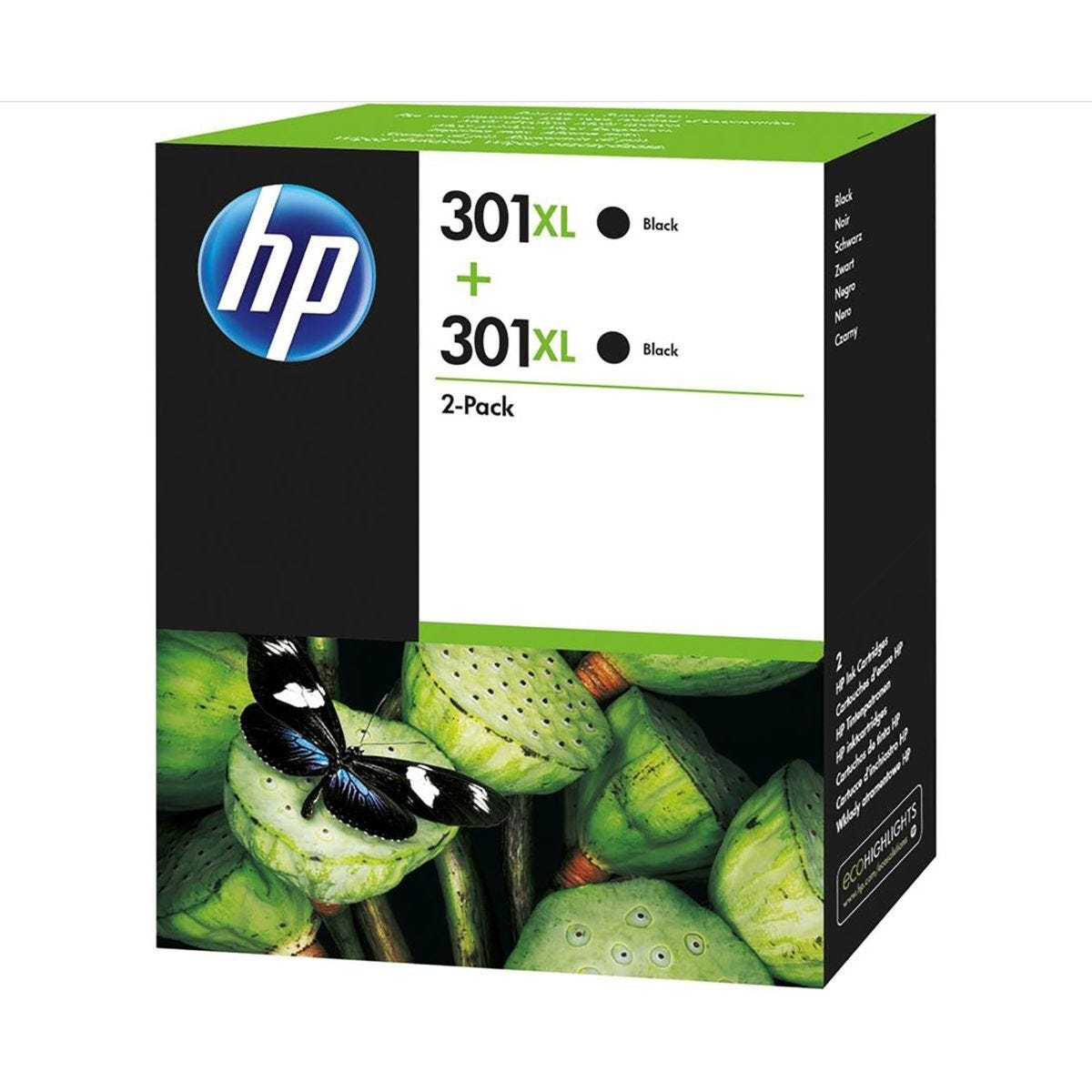 HP 301XL Twin Pack Ink Cartridge Black