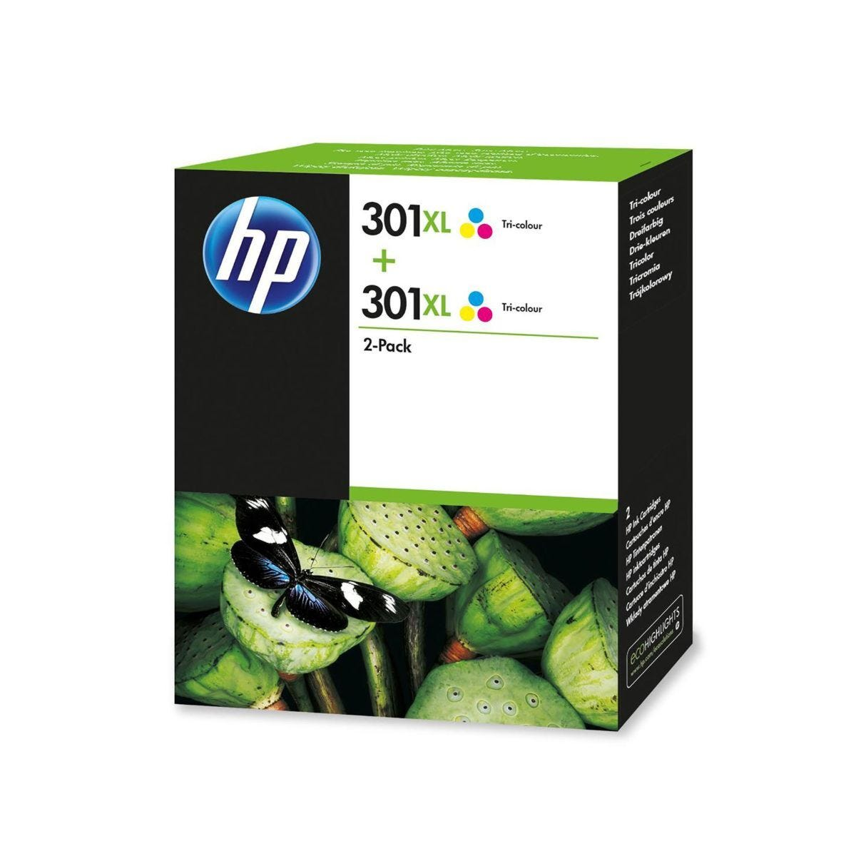 HP 301XL Tri-Colour Twin Pack