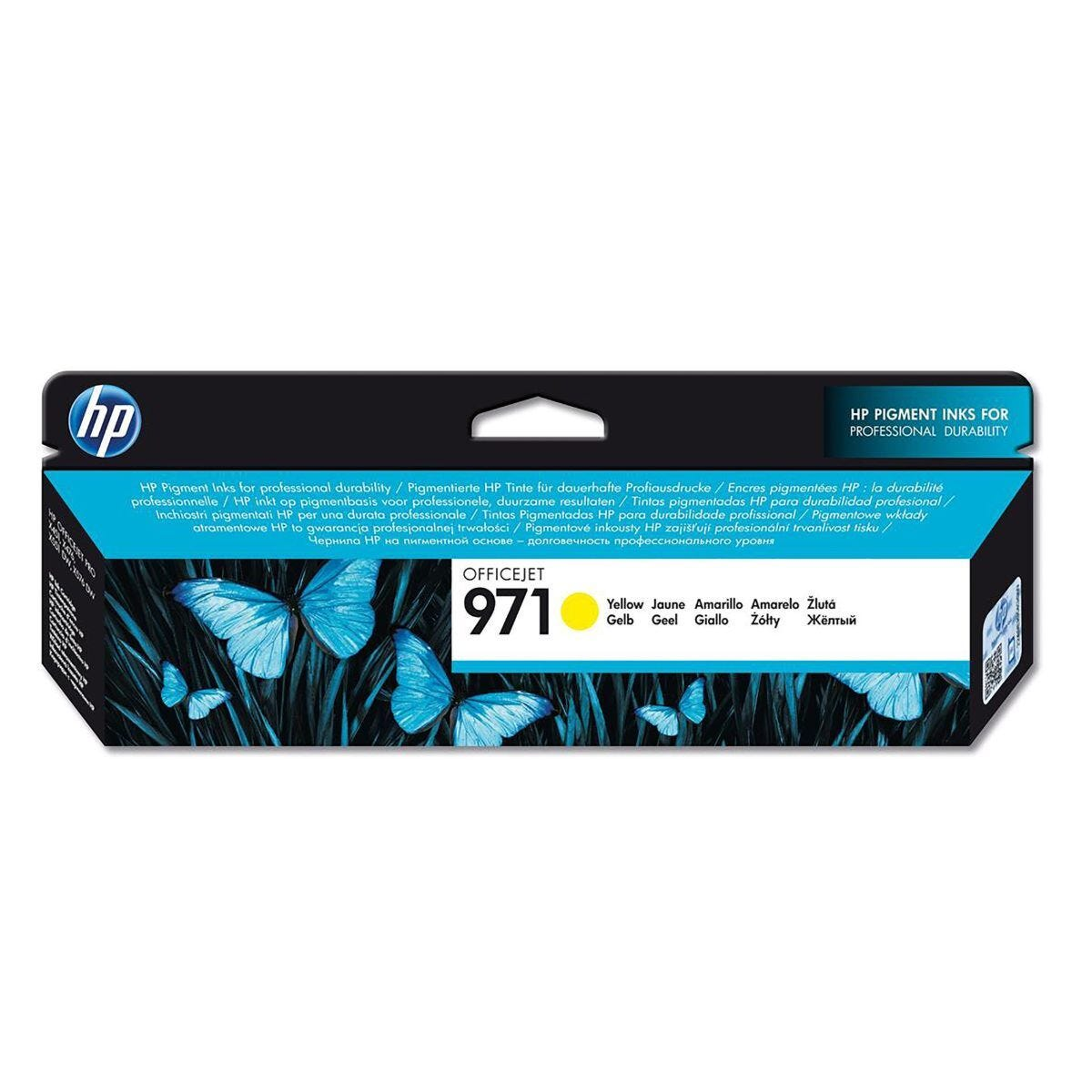HP 971 Officejet Ink Cartridge Yellow CN624AE