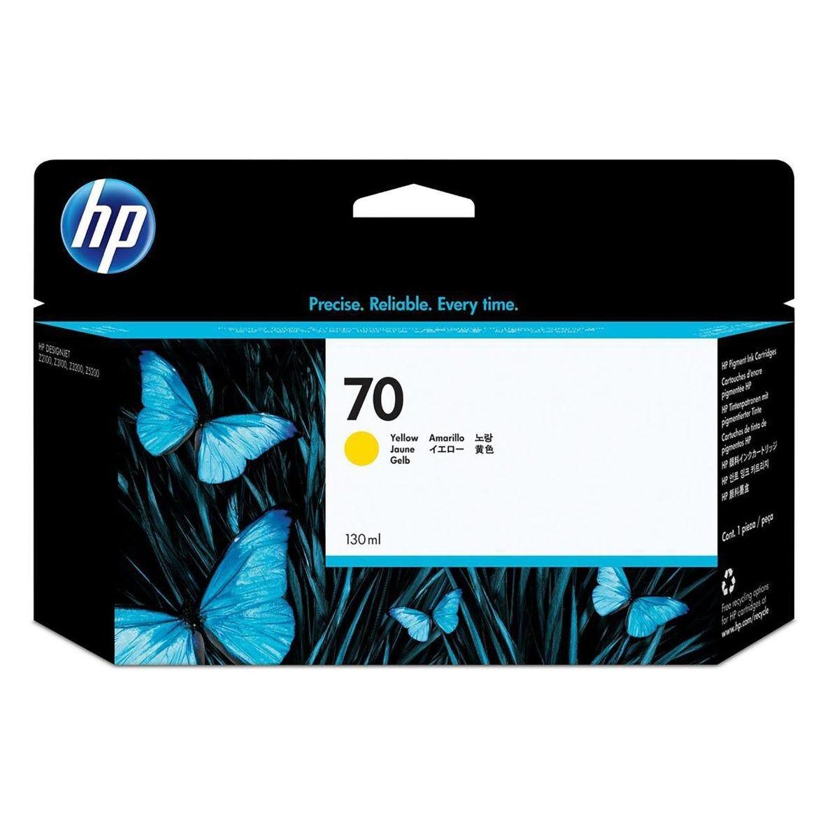 HP 70 Inkjet Cartridge Yellow