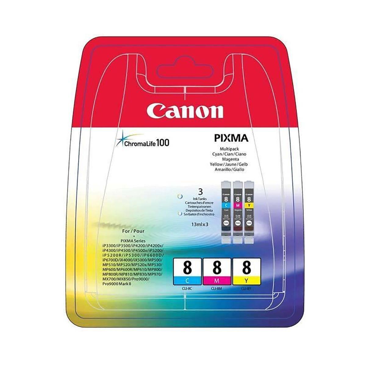 Canon CLI-8 Cyan Magenta Yellow Multi Pack