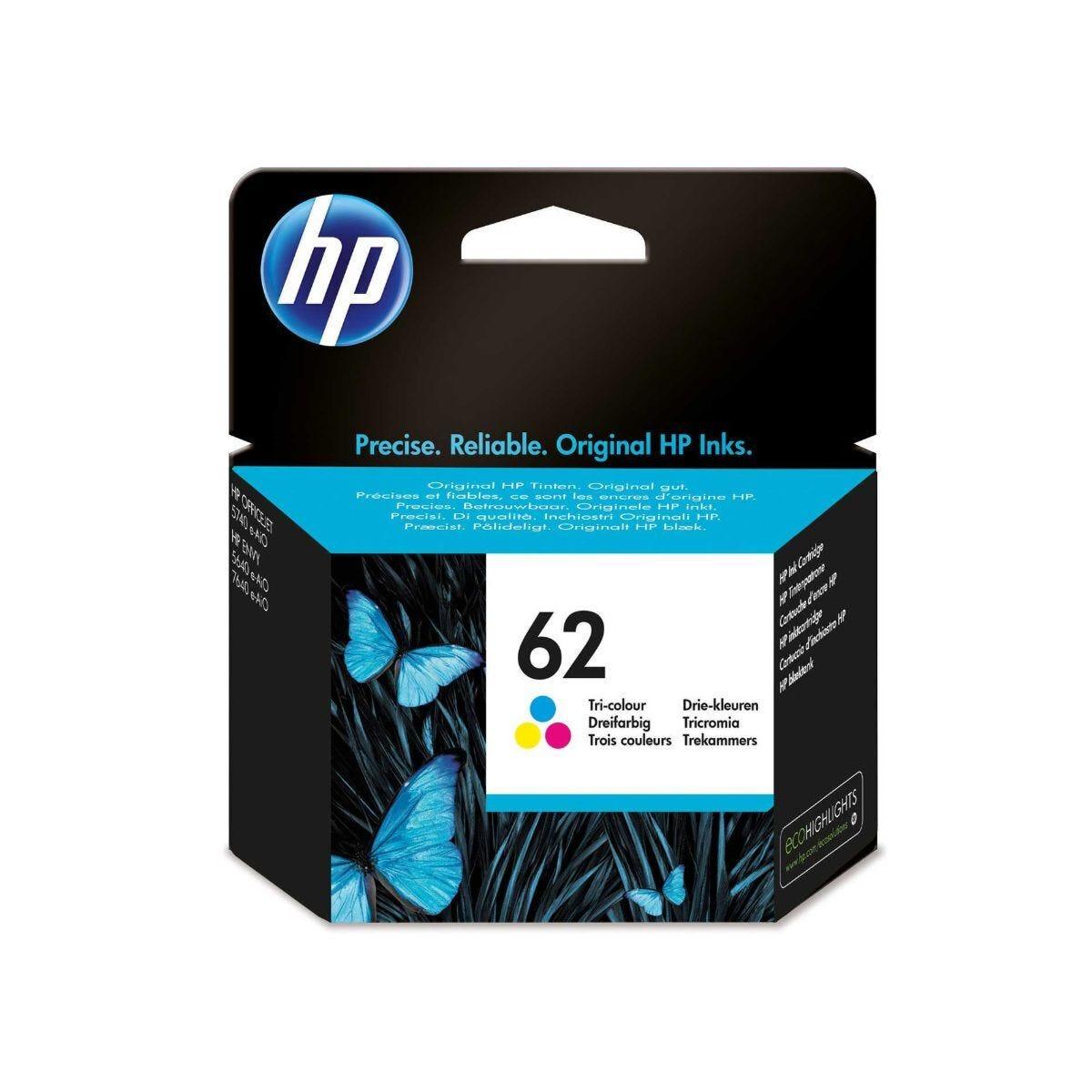 HP 62 Tri Color Ink Cartridge