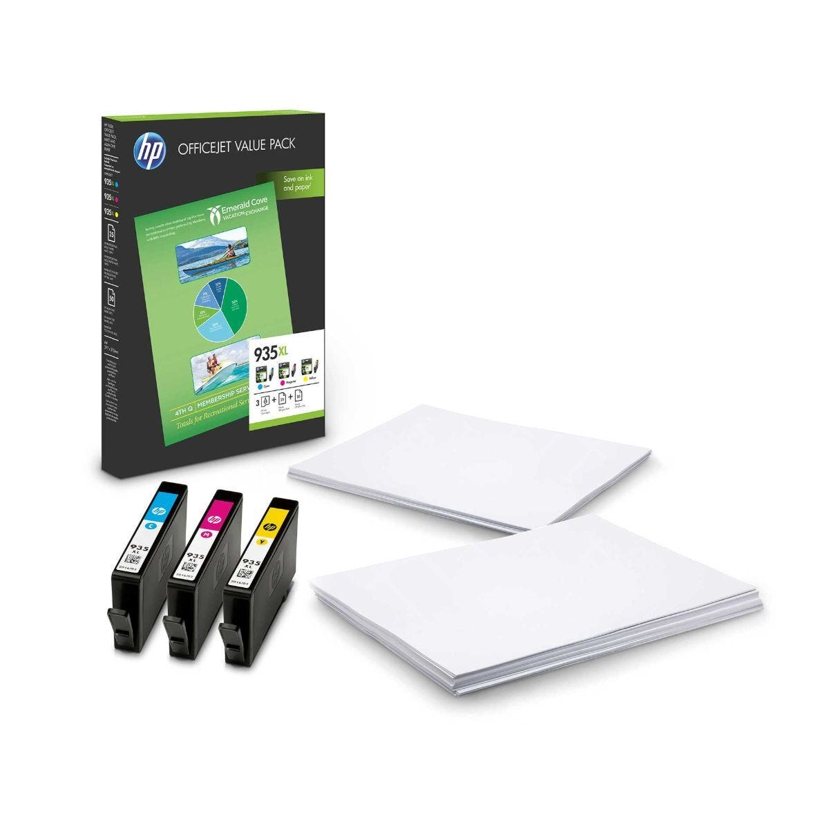 HP 935XL CMY Ink Cartridge OfficeJet Value Pack