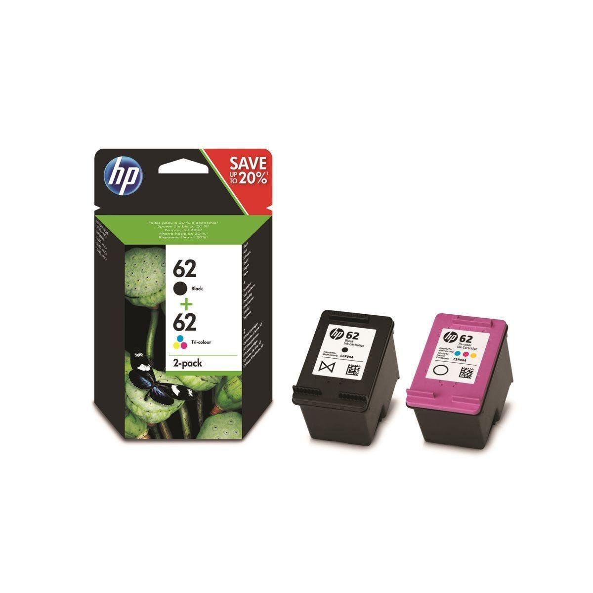 HP 62 Original Ink Cartridge Combo 2 Pack