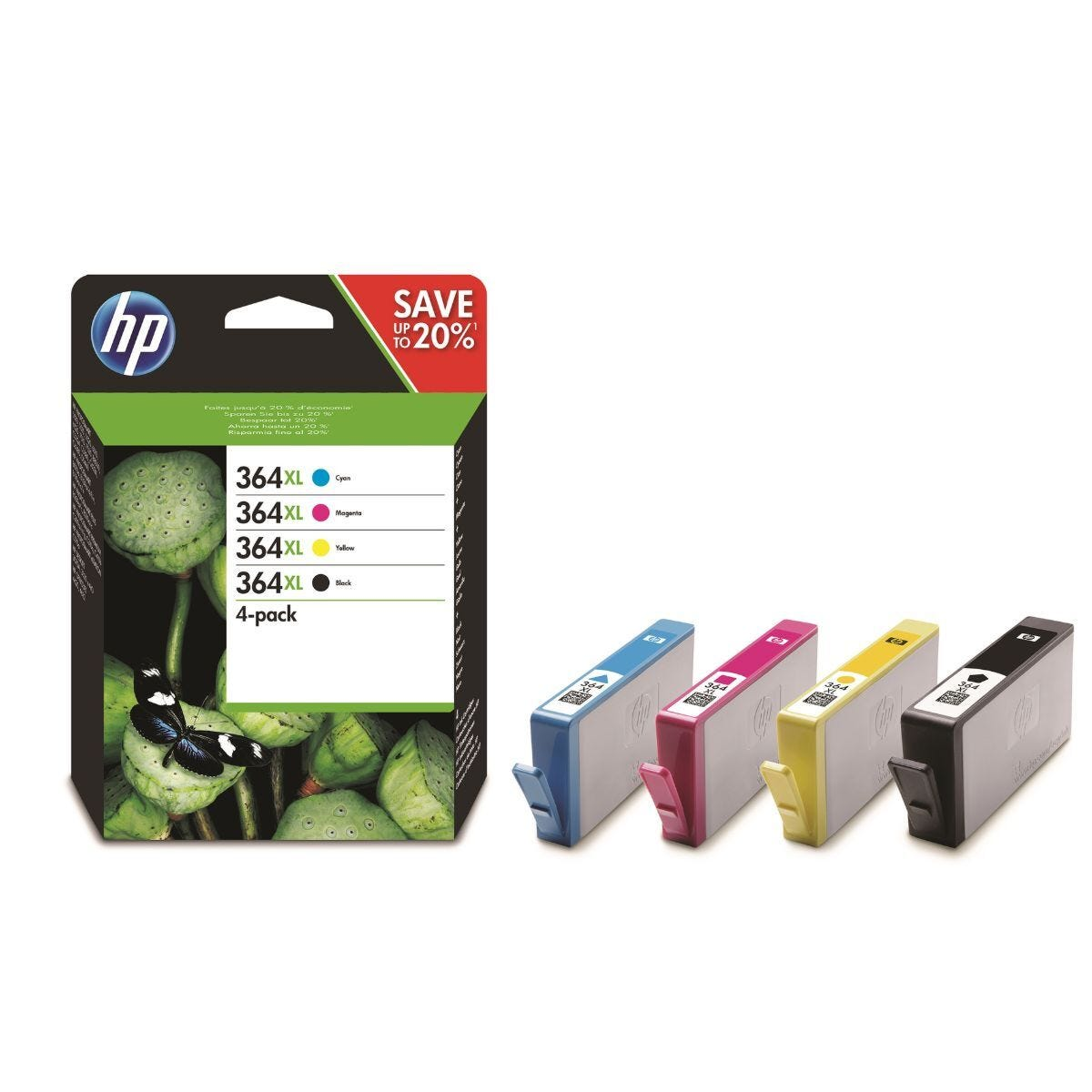 HP 364XL CMYK Original Ink Cartridges Combo 4 Pack