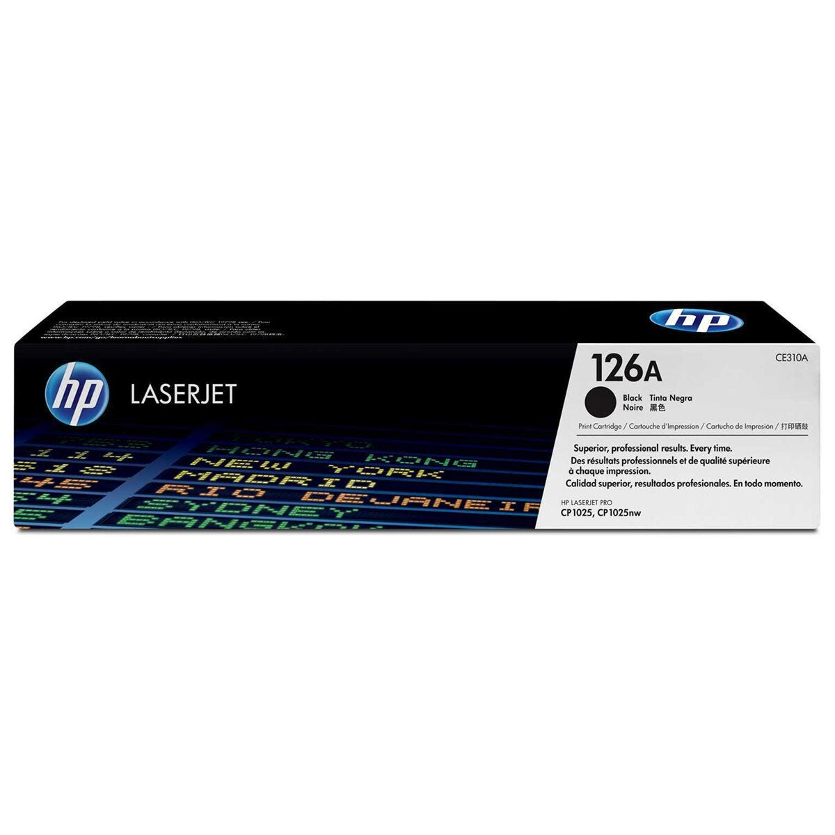 HP 126A Black Original LaserJet Toner Cartridge CE310A