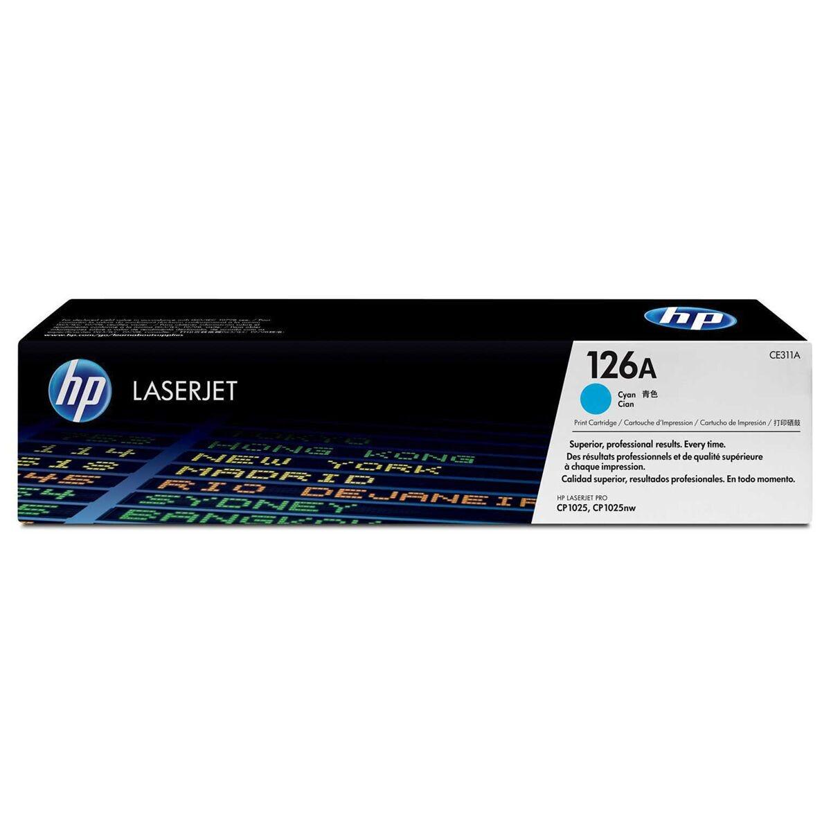 HP Colour 126A Printer Ink Toner Cartridge Cyan