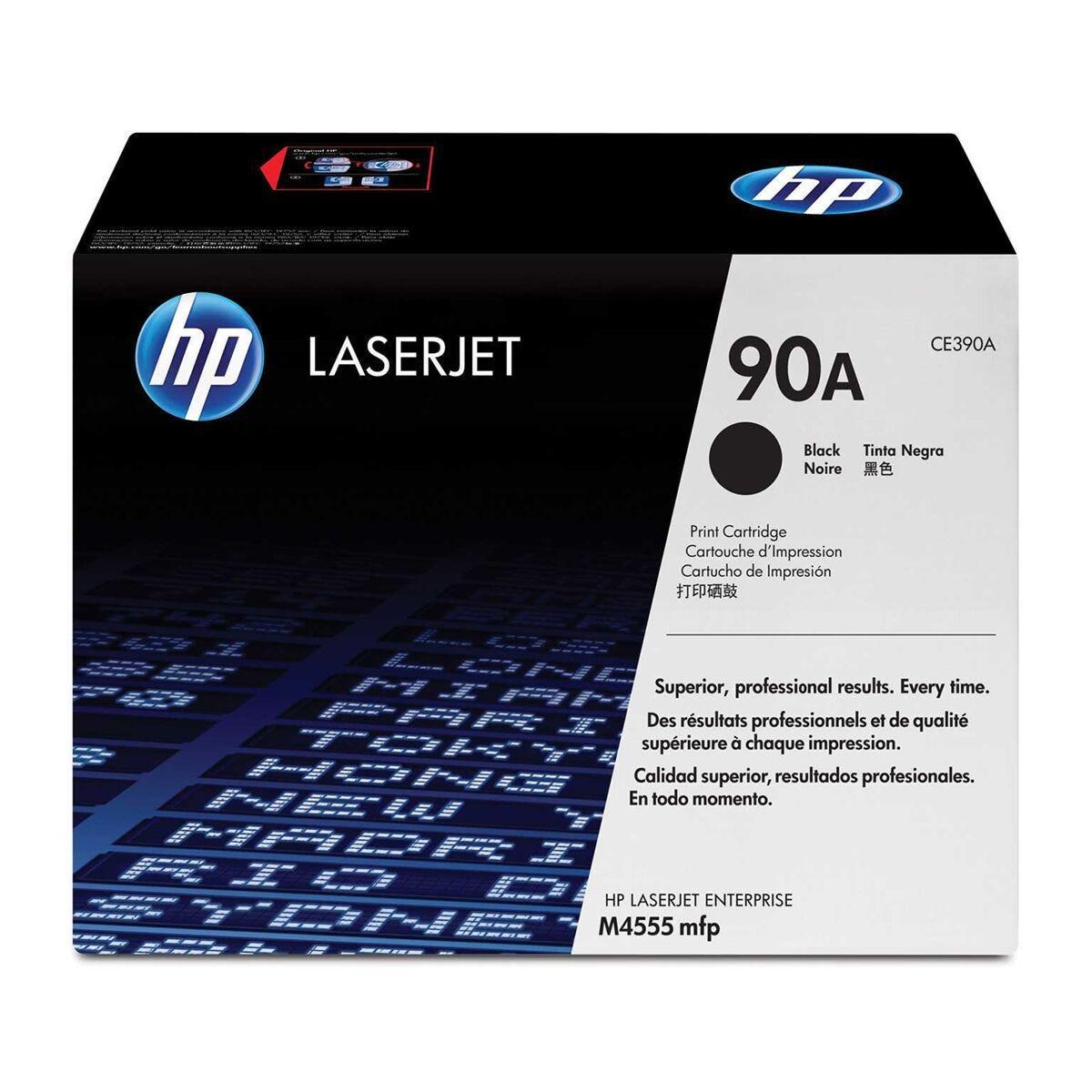 HP 90A Black Original LaserJet Toner Cartridge CE390A