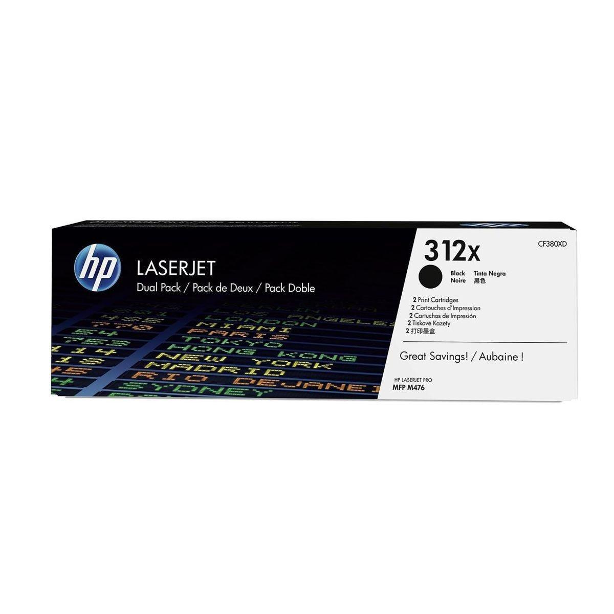 HP 312X 2 Pack High Yield Toner