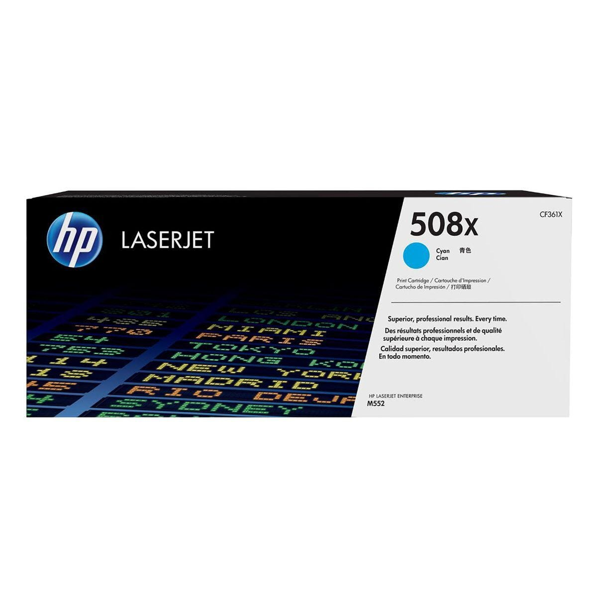 HP 508X High Yield Toner Cyan