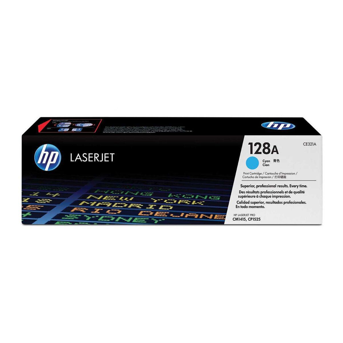 HP 128A Laserjet Ink Toner Cartridge Cyan CE321A