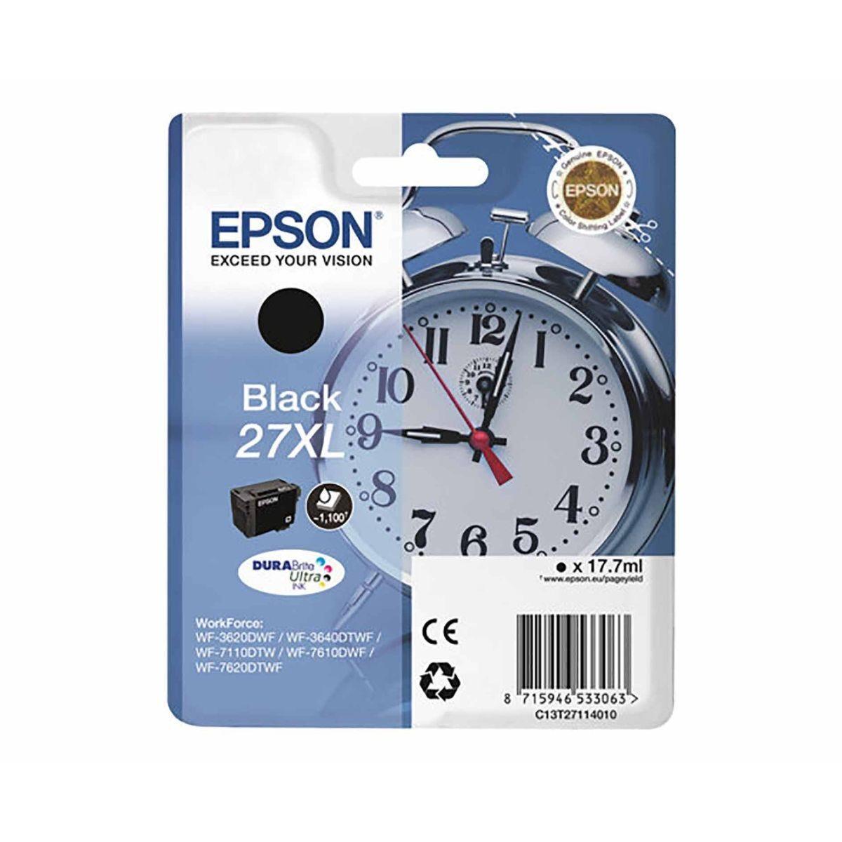 Epson 27XL Alarm Clock Original Ink Cartridge Black
