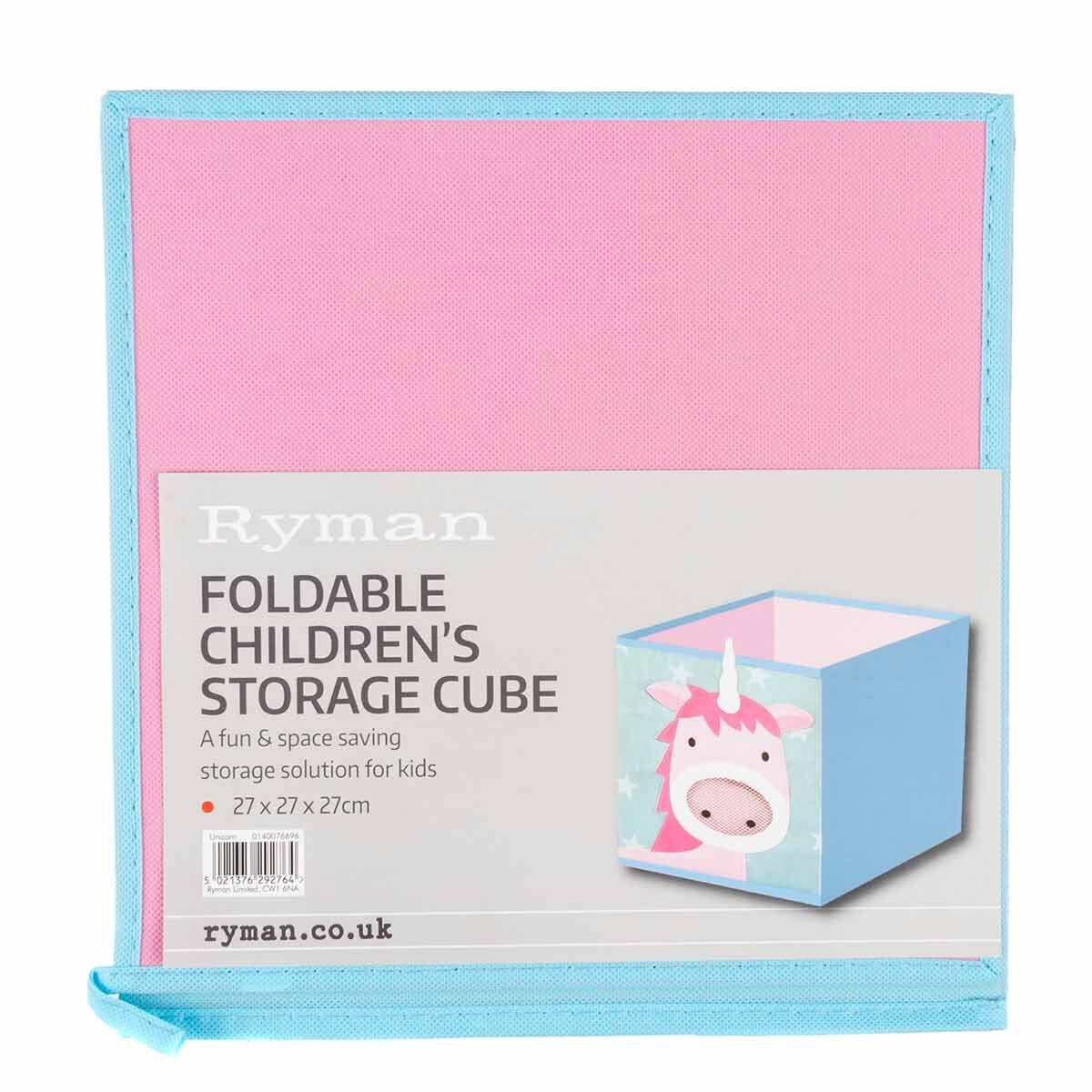 Ryman Childrens Storage Cube Unicorn