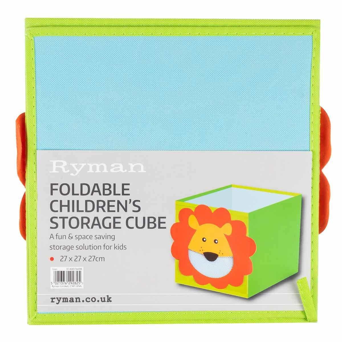 Ryman Childrens Storage Cube Lion