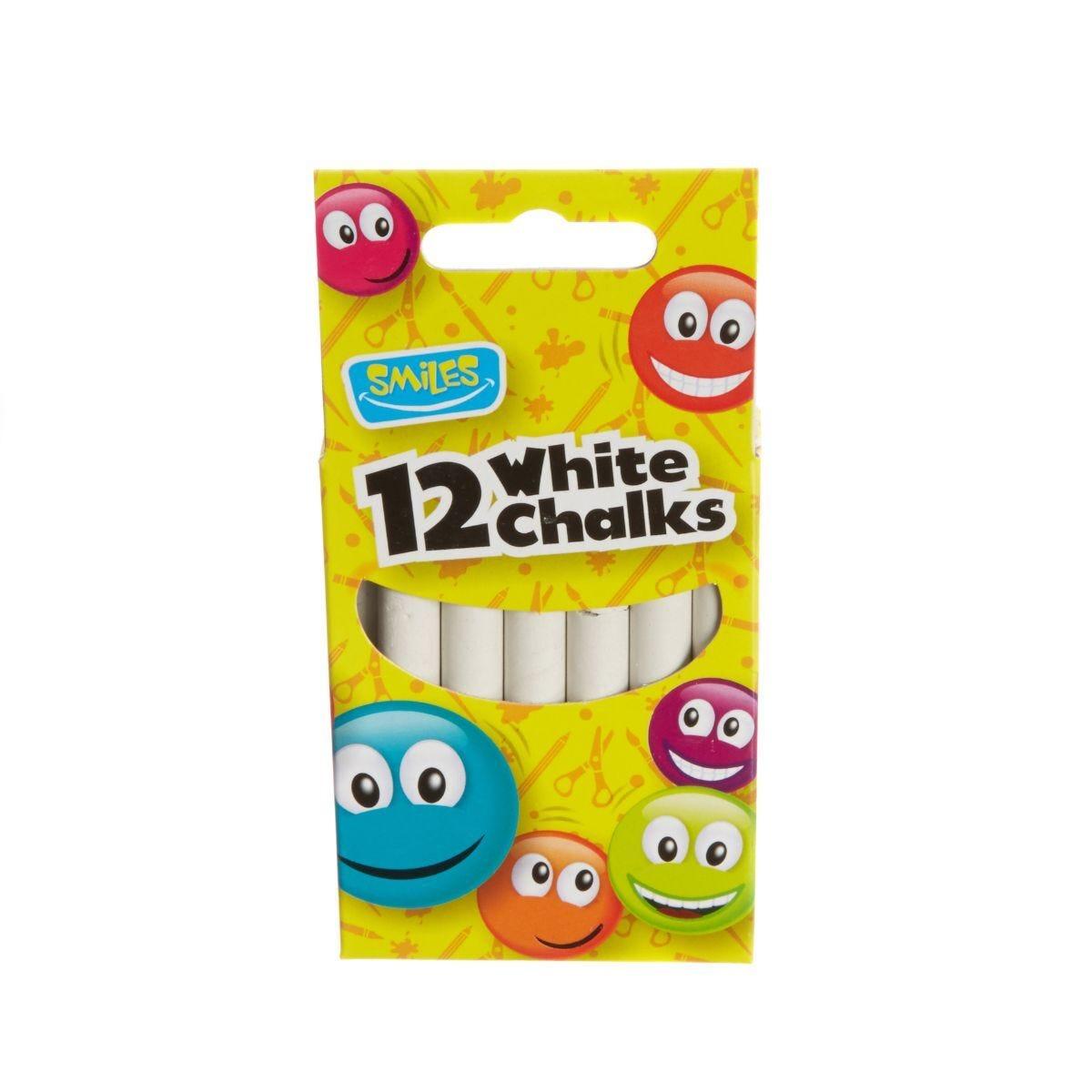 Smiles White Chalks Pack of 12