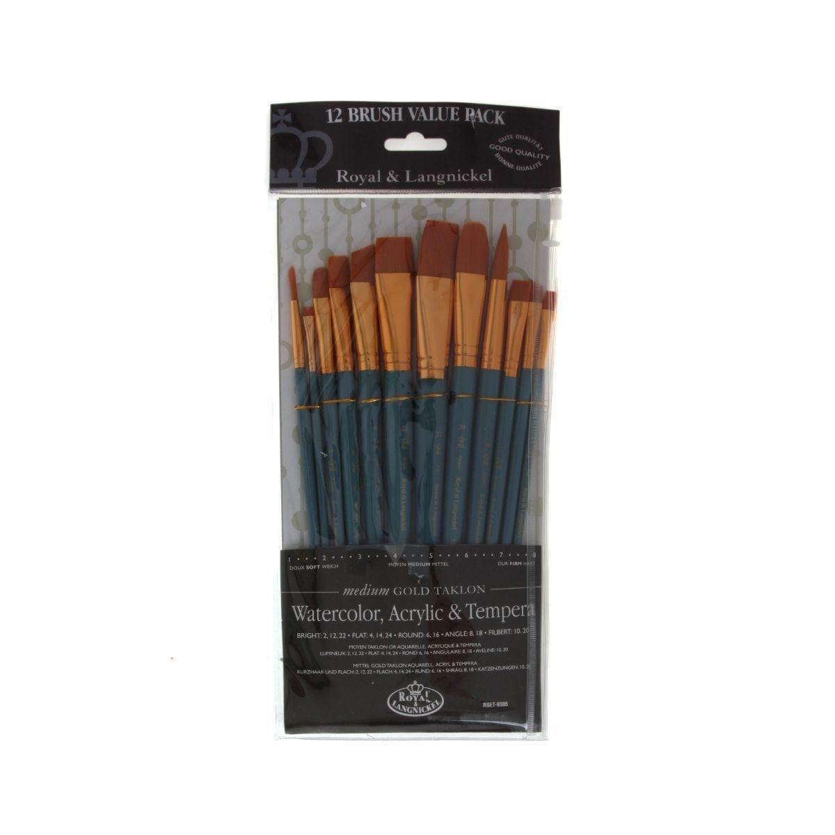 Royal Brush 12 Brush Pack Medium
