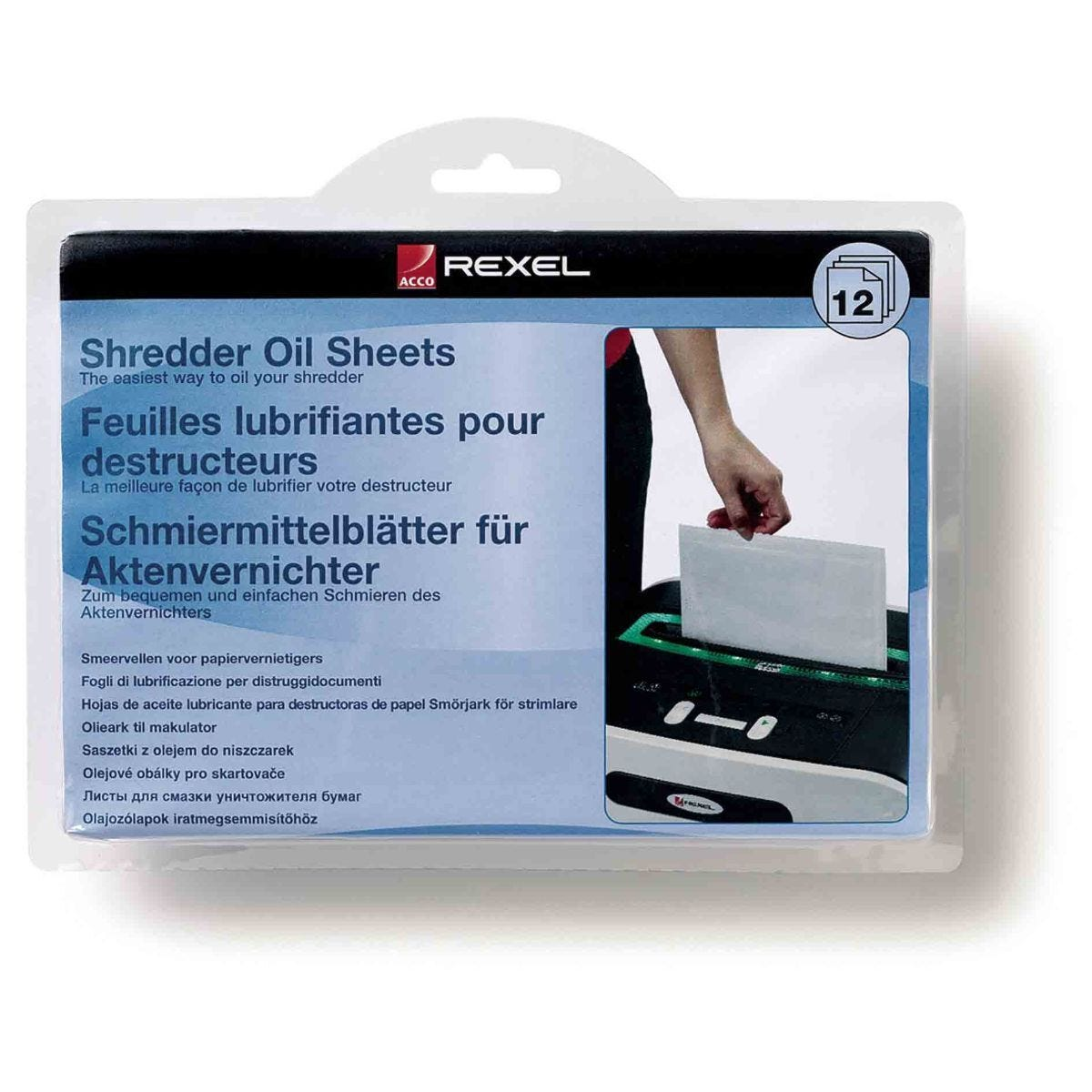Rexel Shredder Oil Sheets Pack of 12 A5 Sheets
