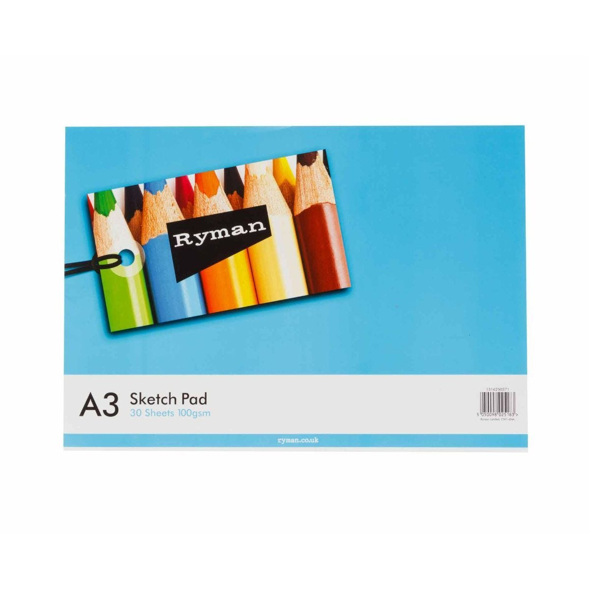Ryman Sketch Pad A3 100gsm 60 Pages 30 Sheets