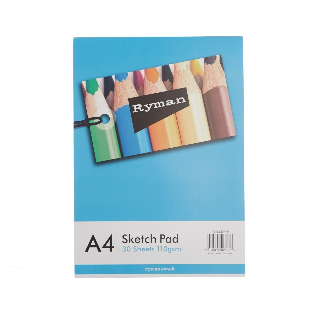 Ryman Sketch Pad A4 100gsm 60 Pages 30 Sheets
