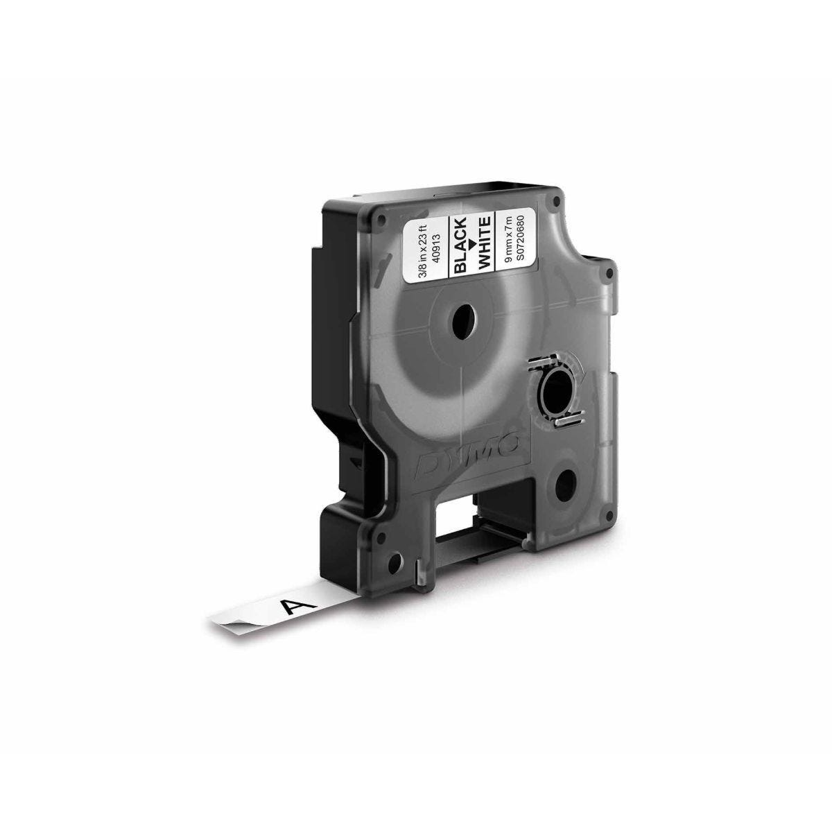 Dymo D1 Label Tape Black and White 9mm x 7m