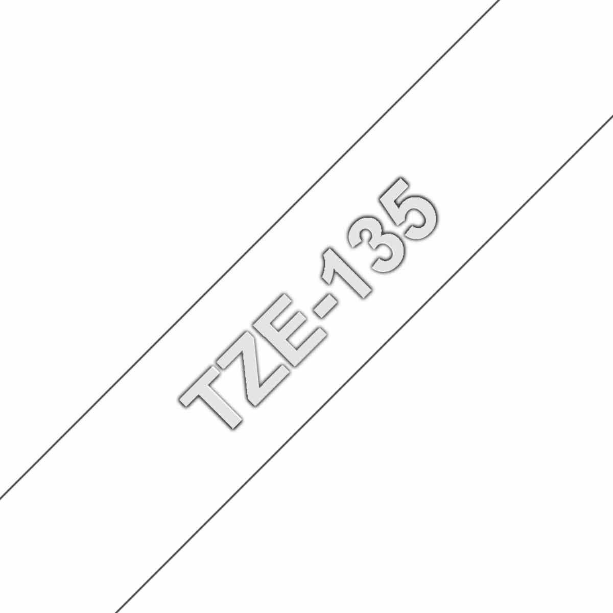 Brother TZE135 Tape White/Clear