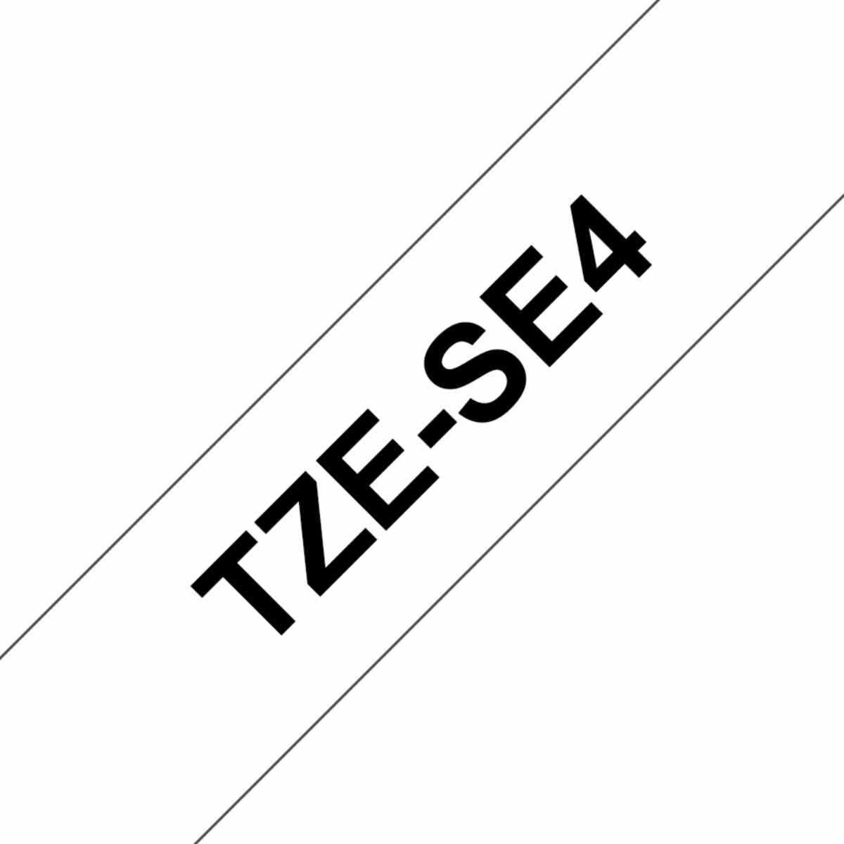 Brother TZESE4 Tape  Black/White
