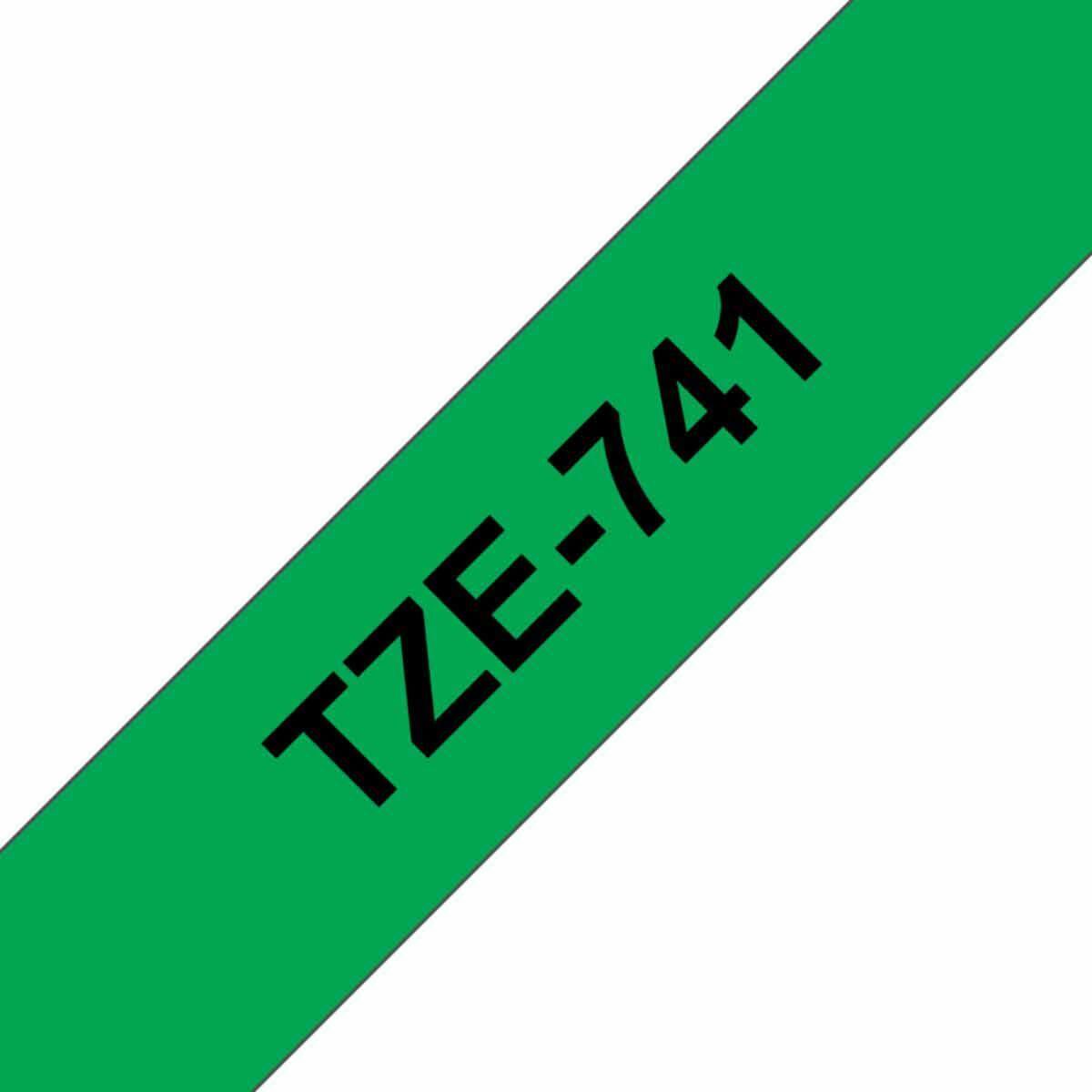 Brother TZE741 Tape Black/Green