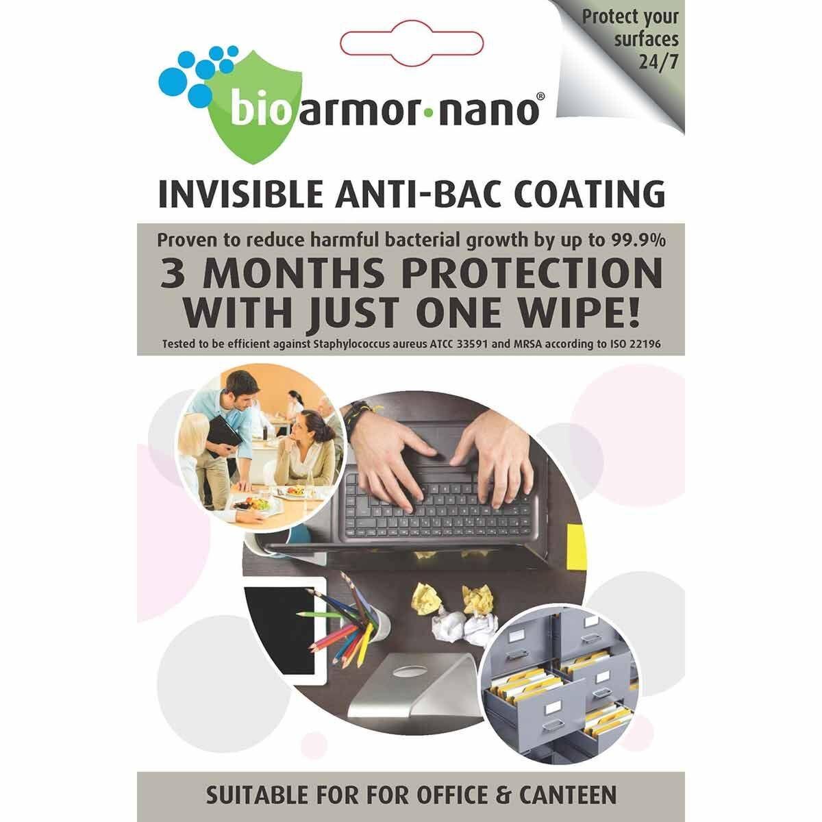 Bioarmor-Nano Antibacterial Office Wipes