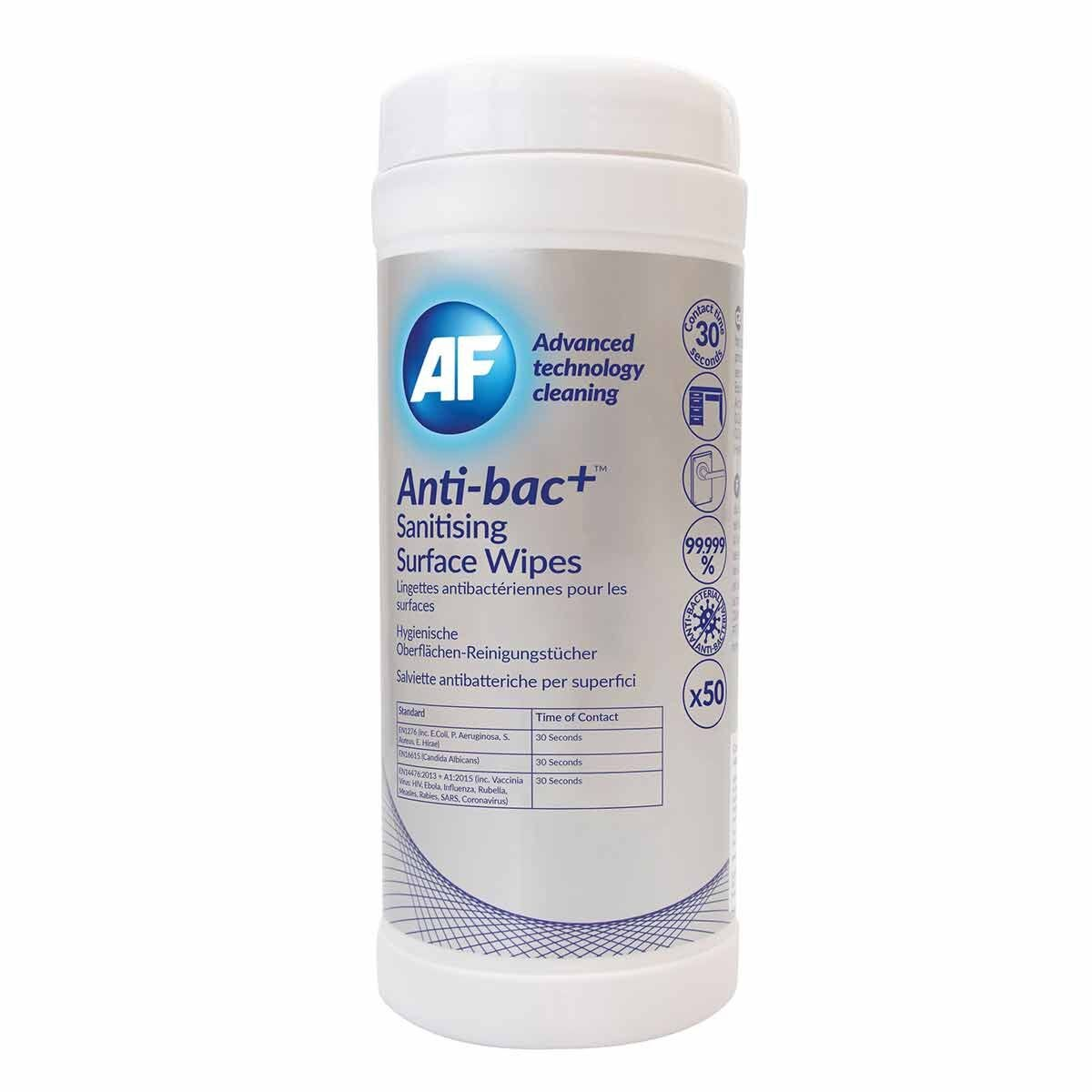 Anti-bac Plus Sanitising Surface Wipes Pack of 50