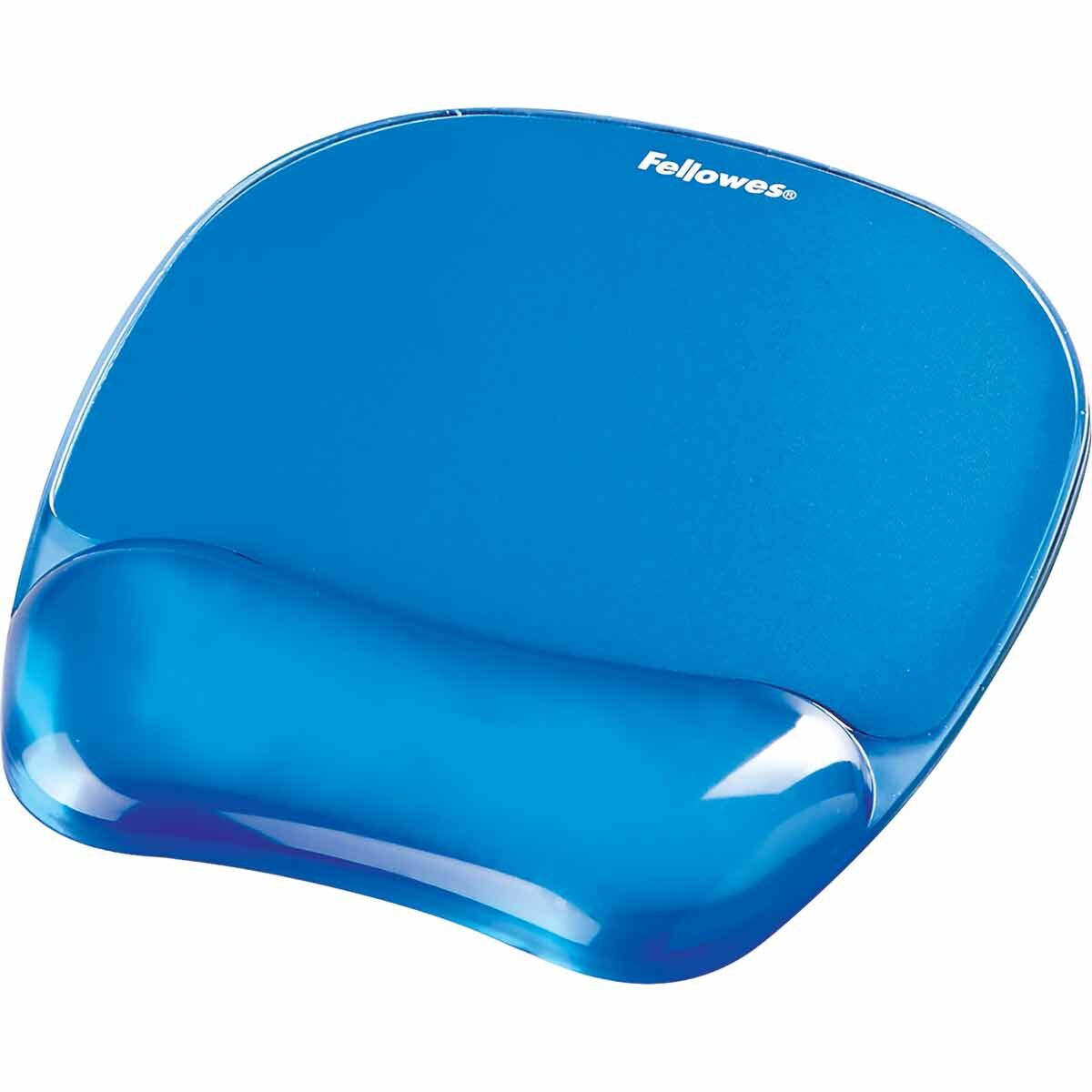 Fellowes Gel Mouse Pad with Wrist Support Blue