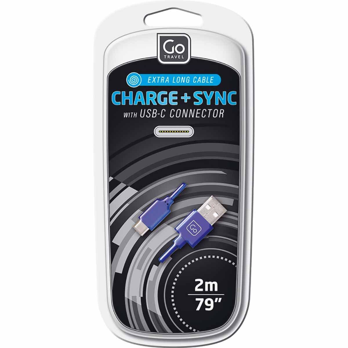 Go Travel Charge and Sync USB-C Cable 2m