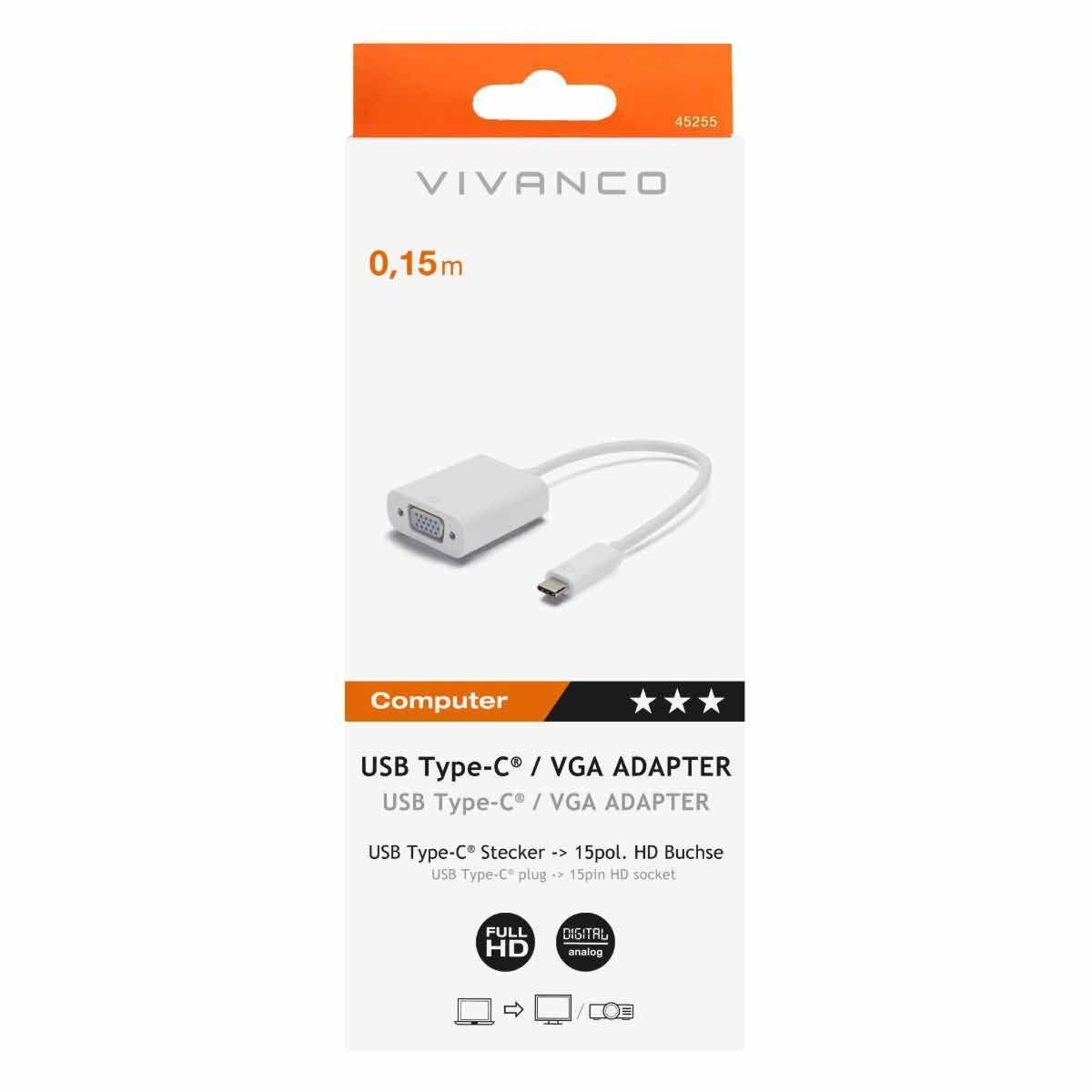 Vivanco USB-C to VGA Adapter