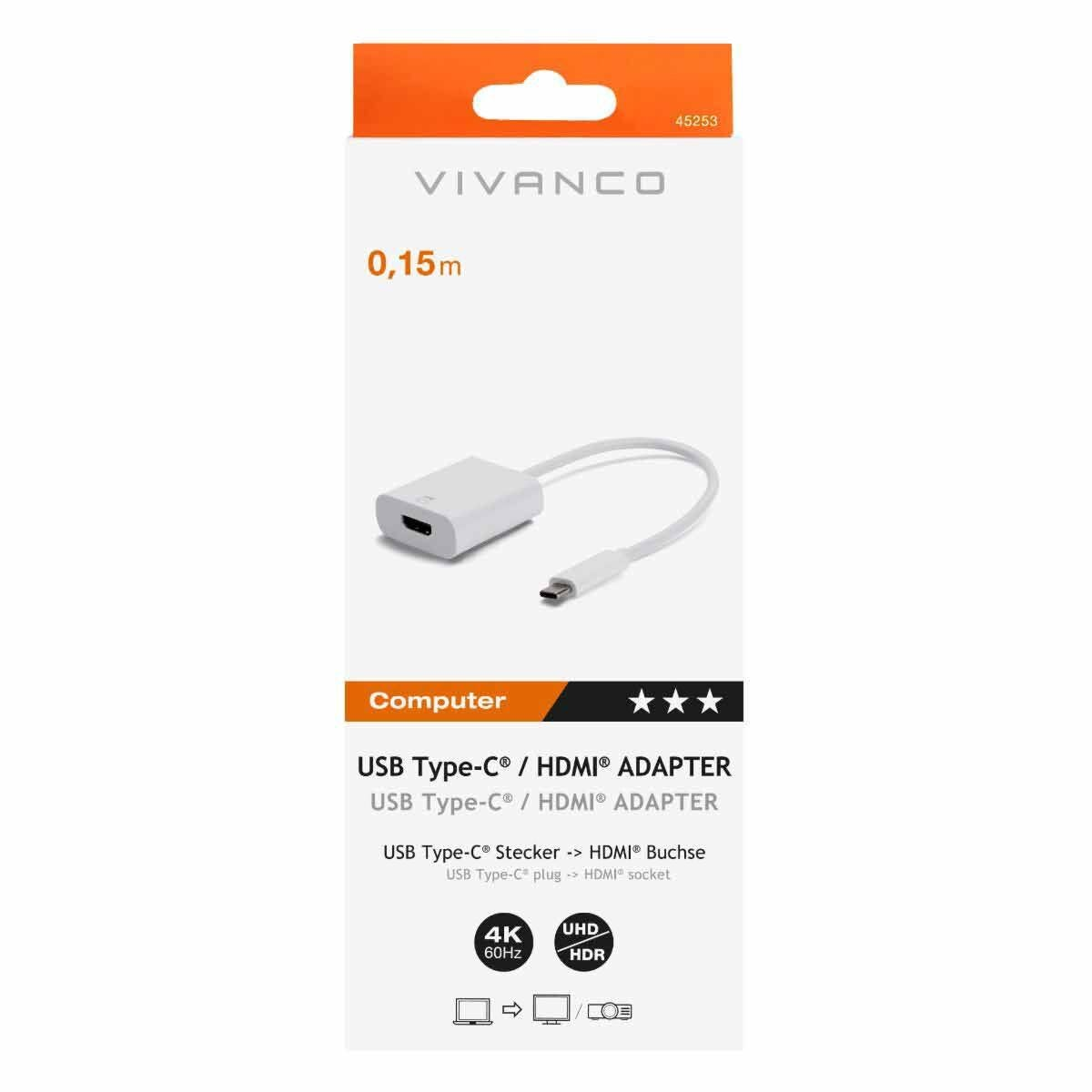 Vivanco USB-C to HDMI Adapter